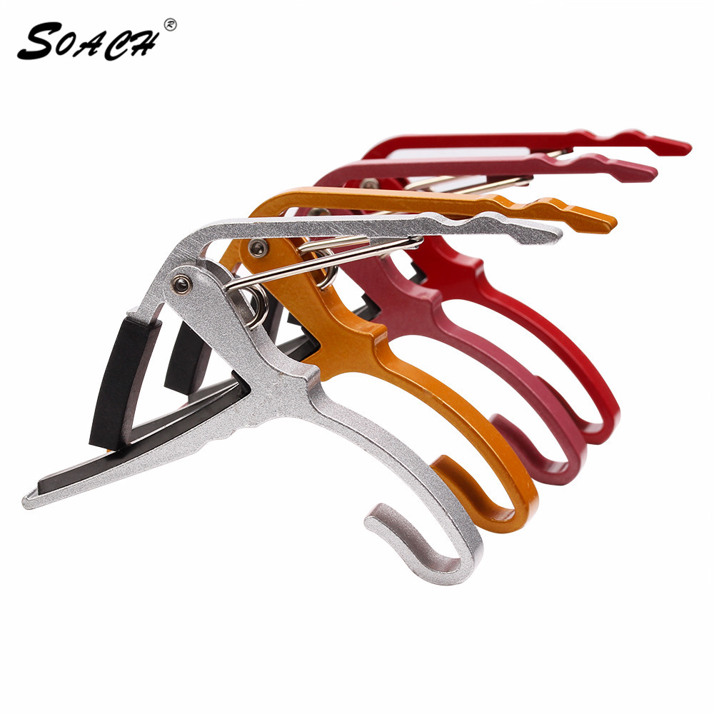 2017 nueva llegada Folk Acoustic stratocaster Tune Quick Change Trigger Guitar Capo Key Clamp colores capo