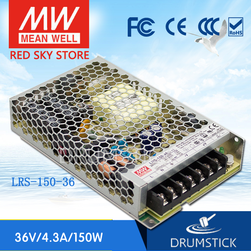 Best-selling MEAN WELL LRS-150-36 36V 4.3A meanwell LRS-150 36V 154.8W Single Output Switching Power Supply best selling mean well se 200 15 15v 14a meanwell se 200 15v 210w single output switching power supply