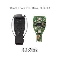 LARATH 3pcs 2 Buttons 433Mhz Complete Smart Remote Key For Mercedes BENZ 2000 With NEC BGA