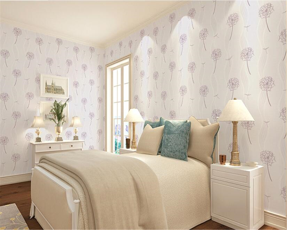 Beibehang vinilo paredNordic style pissenlit papier peint intissé chambre salon salle de mariage fond papel pintado pared