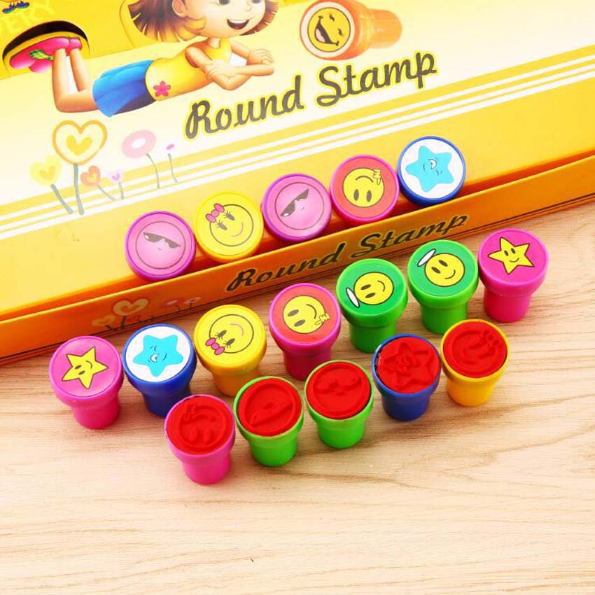 60Pcs Cartoon Animal Frog Rabbit Seal Stamper Teacher Stamp Set Craft Stamps Childrens DIY Best Gifts Kids Toy In Drawing Toys From Hobbies On