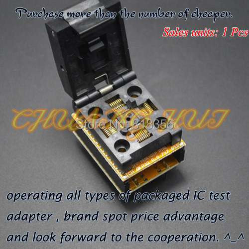 IC TEST TQFP32 to DIP32 Programmer Adapter QFP32 Adapter LQFP32 test socket 1 to 1 alignment design universal adapter