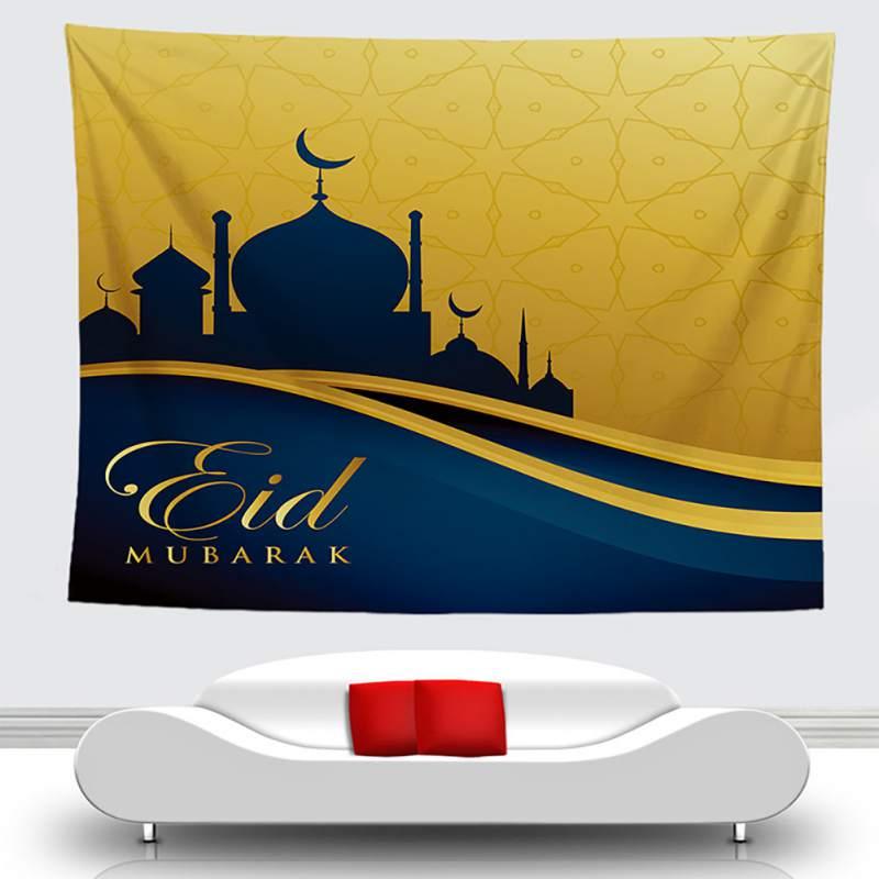 Arabic Islamic Eid al Fitr Style Tapestry Wall Hanging Corridor Decorative Tarpaulin Background Cloth Home Wall Decor Decorative Tapestries     -