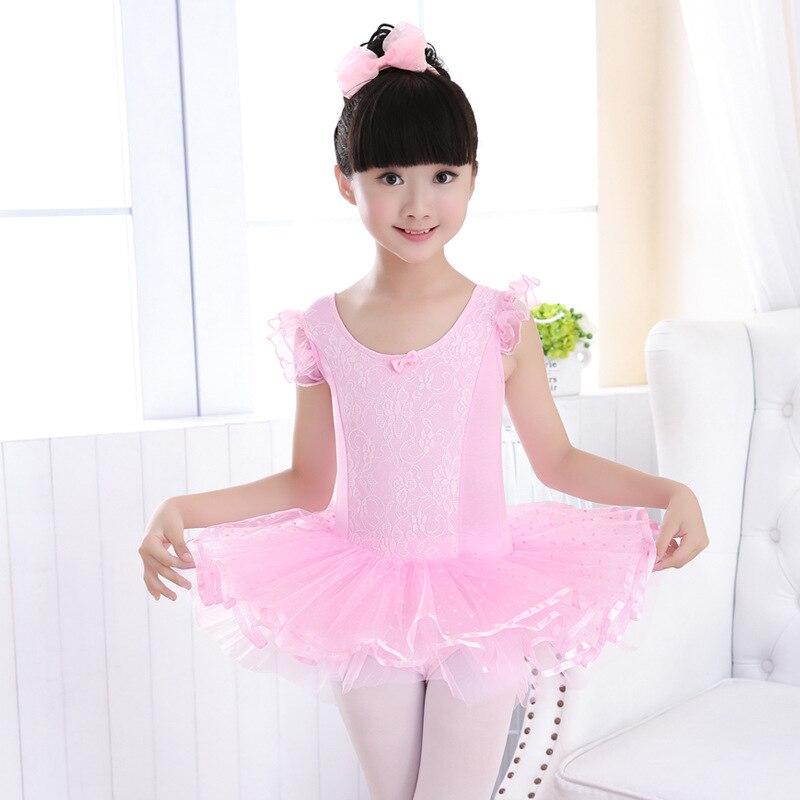 Professional Romantic Tutu Ballet Dancing Giselle Ballet Costumes Ballet Dress F Children Hollow Lace Ballet Clothes Dolly Skirt