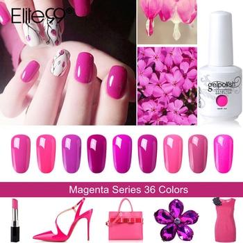 Elite99 15 ml Magenta Farbe Serie Nail art Gel Polnisch Tränken Weg Von Lang Anhaltende UV Gel Nagellack Nagel Lack für DIY Maniküre