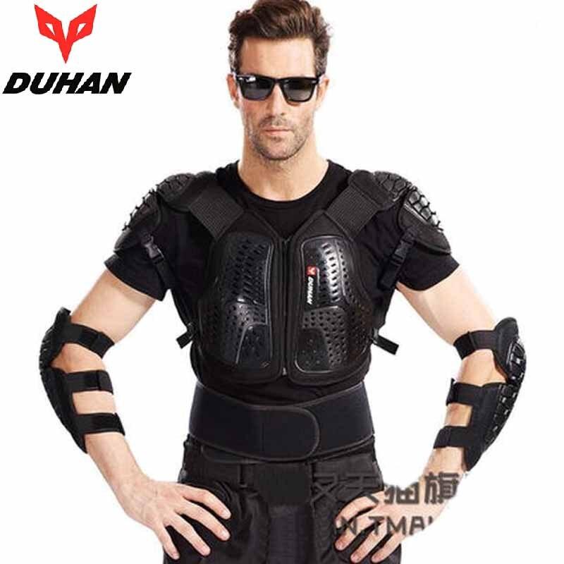 2017 nouveau tout-terrain moto armure vêtements veste anti-chute costume corps ensemble équitation armures chevalier garde équipement coude