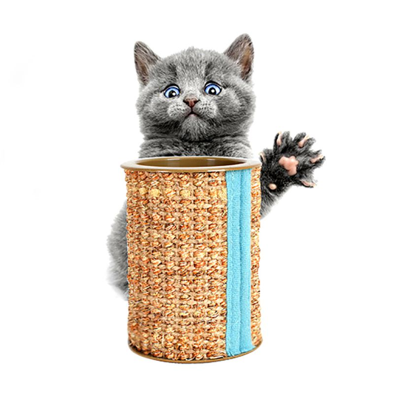 Pet Cat Toy Sound Toys Roller Cat Toy Cylindrical Grinding Claw Bell Ball Sisal Cat Scratch Board Cat Gripper Toy 2619