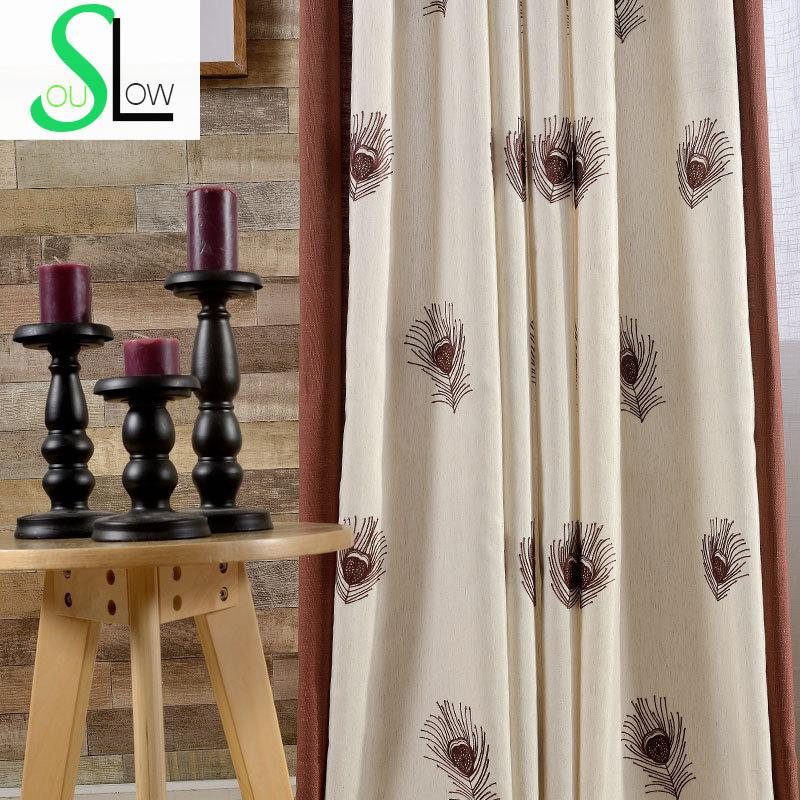 High quality embroidered quality curtain room drapes - Rideaux originaux pour salon ...