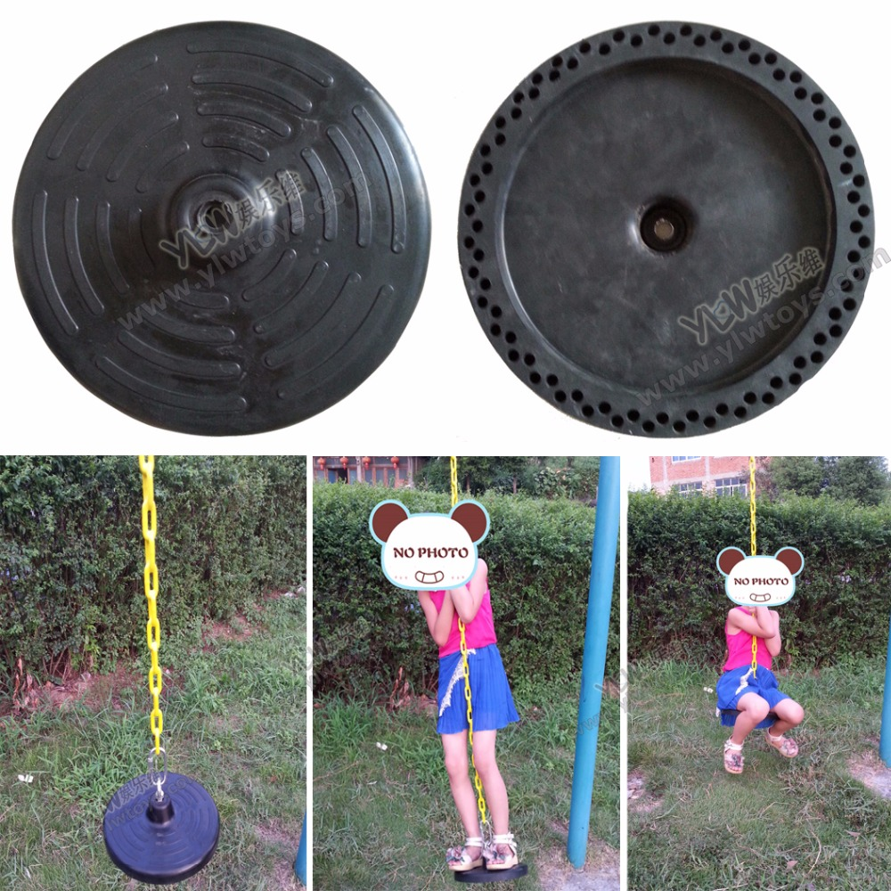 Round rubber swing plate with stainless chain and hook