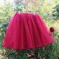 Yuppies Moda 7 Camadas Midi Saias Das Mulheres Adulto Tutu de Tule Saia Damas de Honra da American Apparel Faldas saias Femininas Jupe