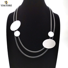 YD&YDBZ 2019 Handmade Rubber Necklaces Womens Collar Chain Neck Jewellery Office Lady Germany Style Necklace Nightclub Chokers