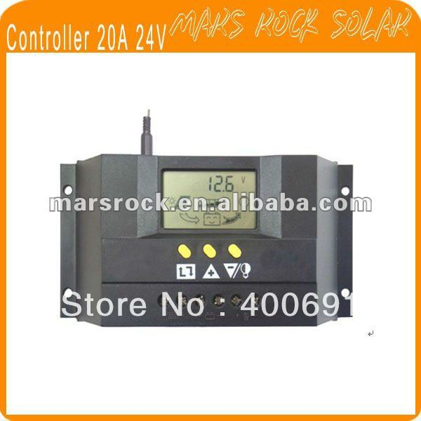 Lastest 20A 12V/24V Intelligent solar charge and discharge controller with PWM function & LCD Display special offer solar charge controller 20a 12v24v lightning protection and anti charge over discharge