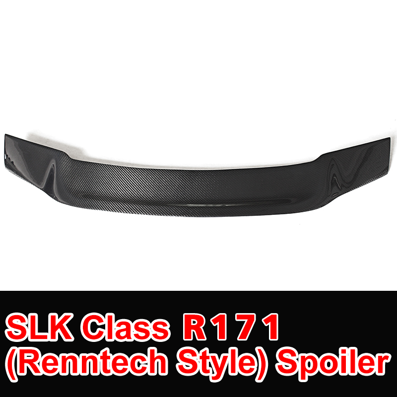 SLK Class R171 Model Carbon Fiber Gloss Black Renntech Style Rear Trunk Spoiler for Mercedes R171 Car Styling 2006 - 2011 mercedes carbon fiber trunk amg style spoiler fit for benz e class w207 2 door 2010 2015 coupe convertible vehicles