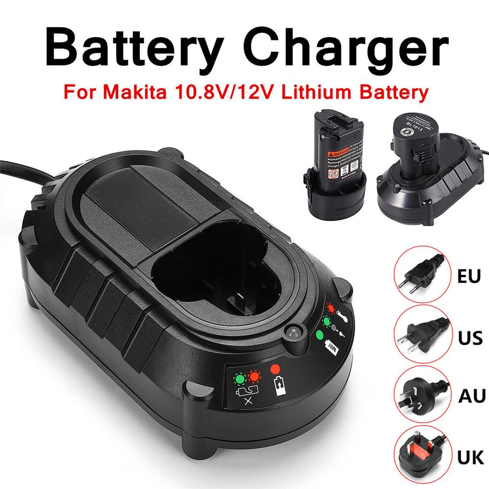 Li-ion Battery Charger For <font><b>Makita</b></font> BL1013 BL1014 10.8V <font><b>12V</b></font> Electrical Drill Screwdriver Tools Power Supply Charger (US/EU/AU/UK) image