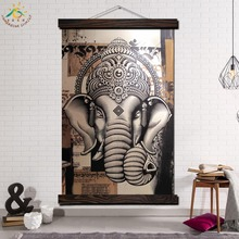Black and White Elephant Single Modern Wall Art Print Pop Picture And Poster Frame Hanging Scroll Canvas Painting Home Decor