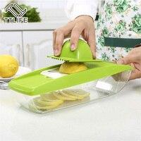 TTLIFE Réglable Mandoline Légumes Trancheuse 5 Lames Interchangeables En Acier Inoxydable Coupe De Fruits Râpe Cuisine Salade Maker