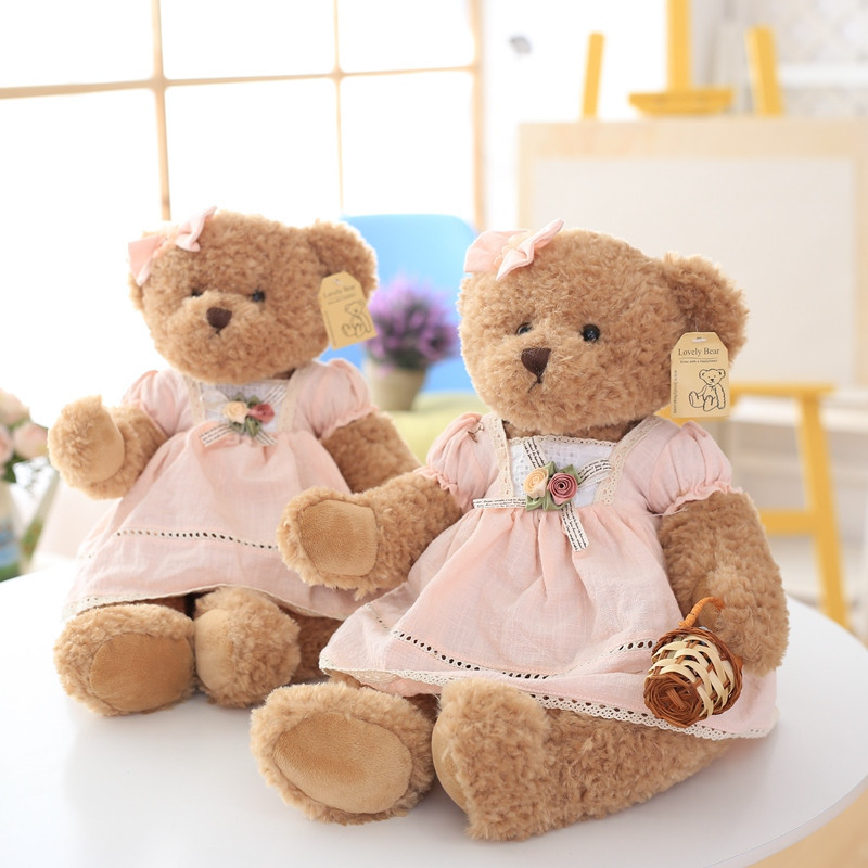 Super Cute Teddy Bear Plush Toys Big Size Clothes With Bear Doll Kidz  Children Gifts Girl Christmas Presents Free Shipping In Movies U0026 TV From  Toys ...