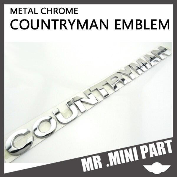 Mini New 3d Chrome Metal Rear Trunk Boot Hatch Letter Emblem