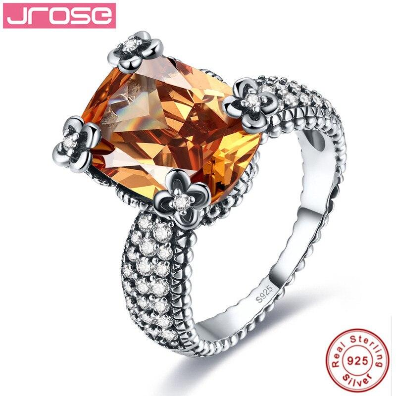 Jrose 100% 925 argent Sterling Morganite anneaux pour femmes femme bague doigt célèbre Original bijoux Fine bijoux livraison gratuite