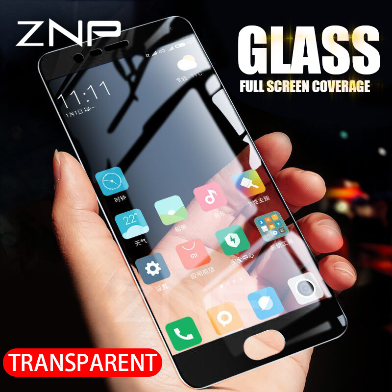ZNP Tempered-Glass Full-Cover-Screen Mi5c Xiaomi Mi6 Mi5s-Plus Mi5x For Protective-Film