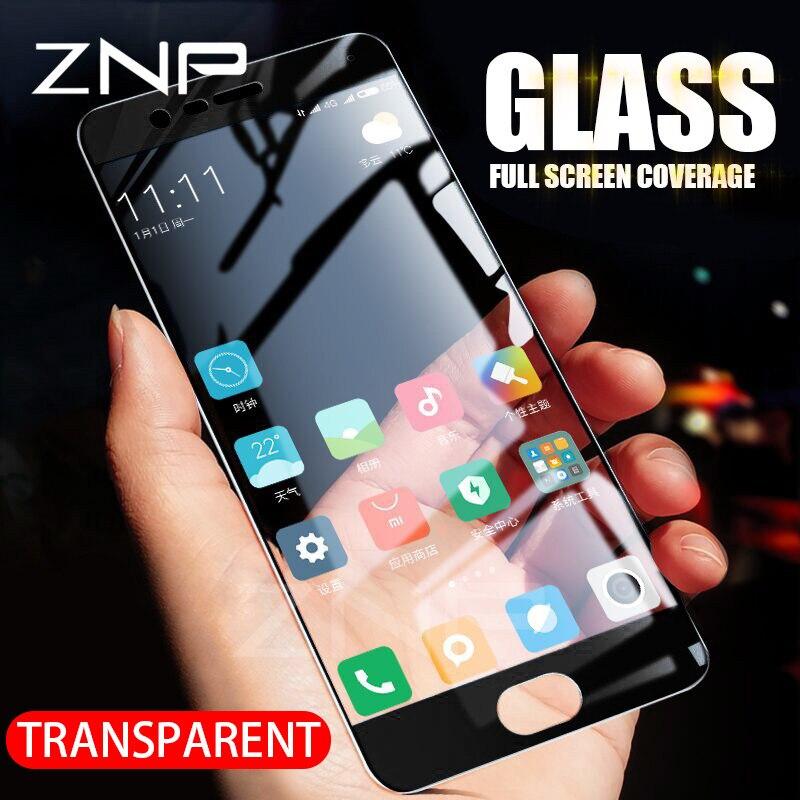 ZNP מזג זכוכית עבור Xiaomi Mi6 Mi5 Mi5X Mi5C Mi5S מלא כיסוי מסך מגן סרט לxiaomi Mi5 Mi5S בתוספת מגן זכוכית