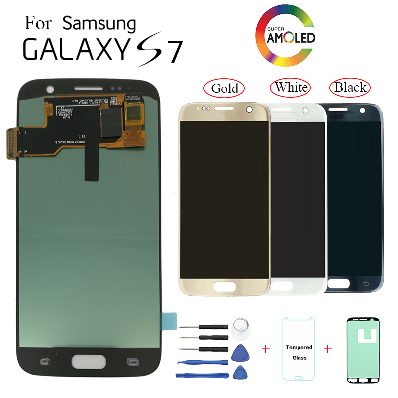 AMOLED For <font><b>Samsung</b></font> <font><b>Galaxy</b></font> <font><b>S7</b></font> G930F <font><b>G930FD</b></font> <font><b>Display</b></font> LCD screen replacement for <font><b>Samsung</b></font> SM-G930V G930T G930W8 <font><b>display</b></font> screen module image