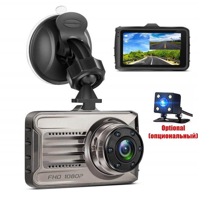 "Dual Lens Dash Camera Novatek Driving Video Camcorder Real FULL HD 1080P 3"" Car Vehicle 170 Degree Registrar Recorder Dash Cam"