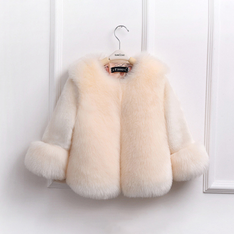 2018 Winter Girls Fur Coat Elegant Baby Girl Faux Fur Jackets And Coats Thicken Kids Warm Parka Children Outerwear Clothes 2018 fashion children s cotton parkas winter outerwear coats thickened warm jackets baby boy and girl faux fur coat