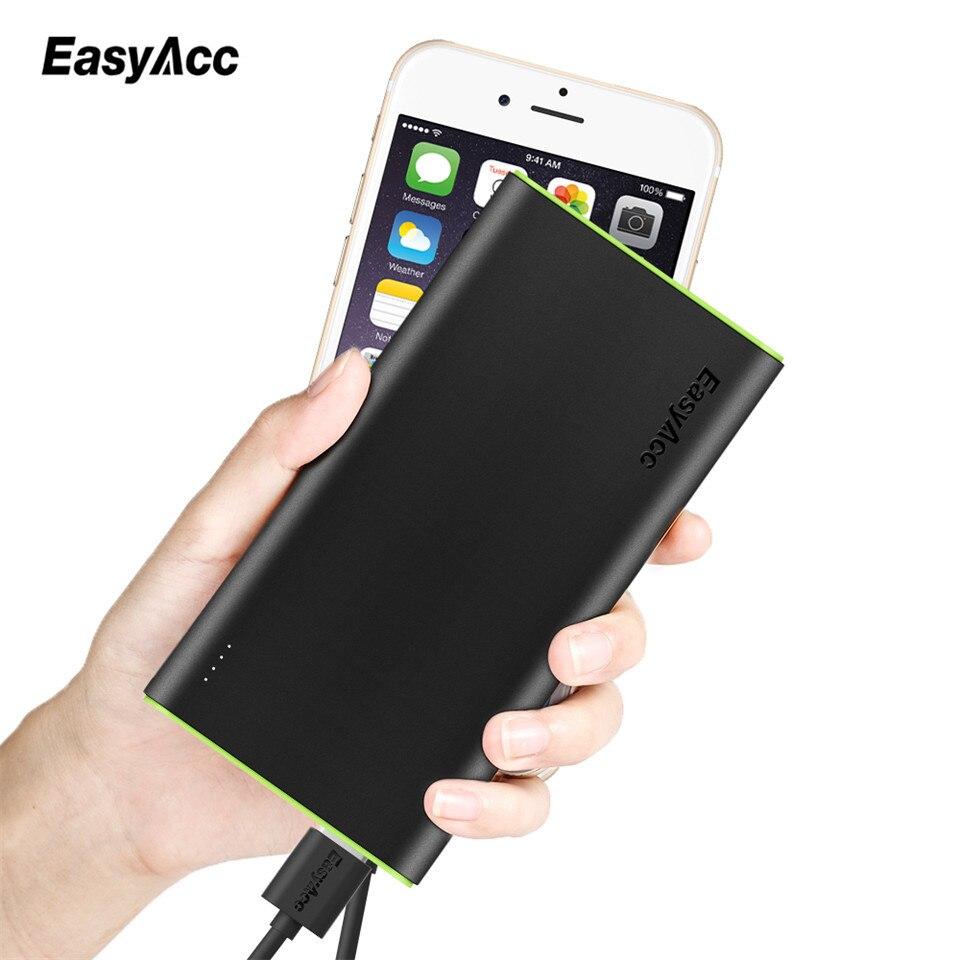 imágenes para Easyacc 10000 mah externo del cargador de batería inteligente de identificación puerto 3.1a dual usb powerbank cargador para xiaomi mi5 redmi3 rápido
