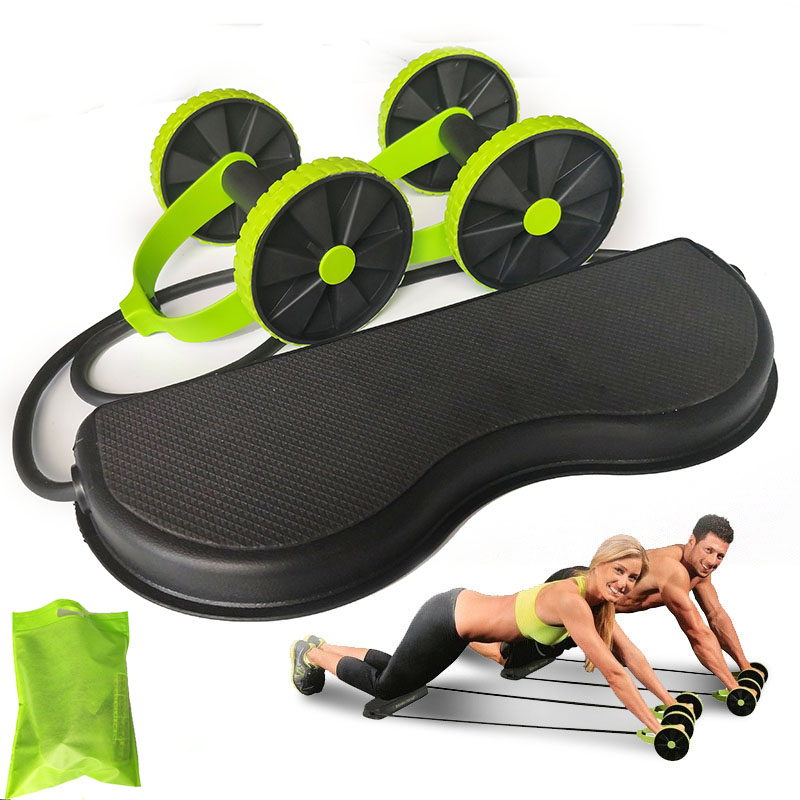 Wheels-Roller Exercise Abdominal-Muscle-Trainer Elastic Stretch for Pull-Rope-Tool