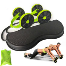 AB Wheels Roller Stretch Elastic Abdominal Resistance Pull Rope Tool AB roller for Abdominal muscle trainer exercise(China)