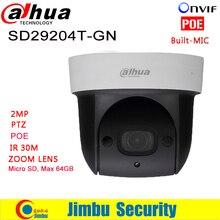 Dahua IP Camera 2Mp Mini IR PTZ Dome IP Camera SD29204T GN 2 7mm 4x optical