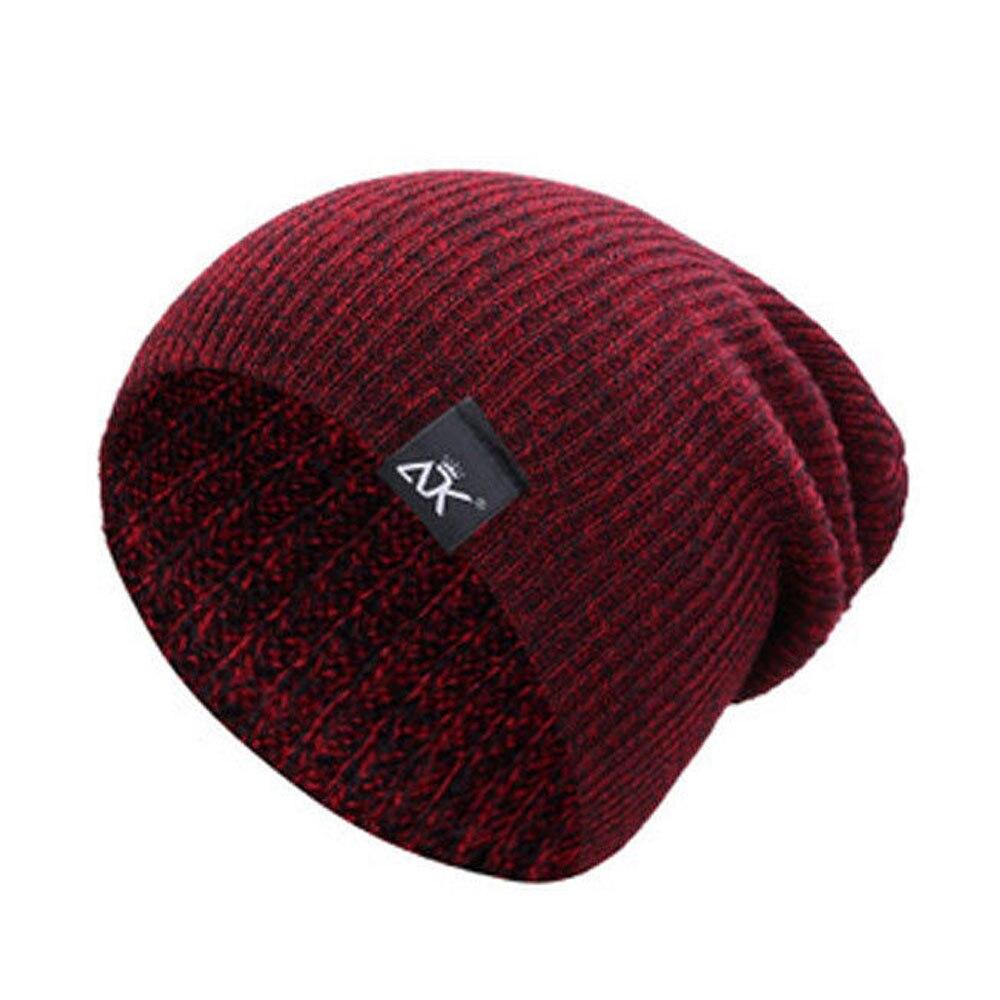 Bonnets laine Chapeaux D'hiver Ski Sports Tricot Unisexe 6