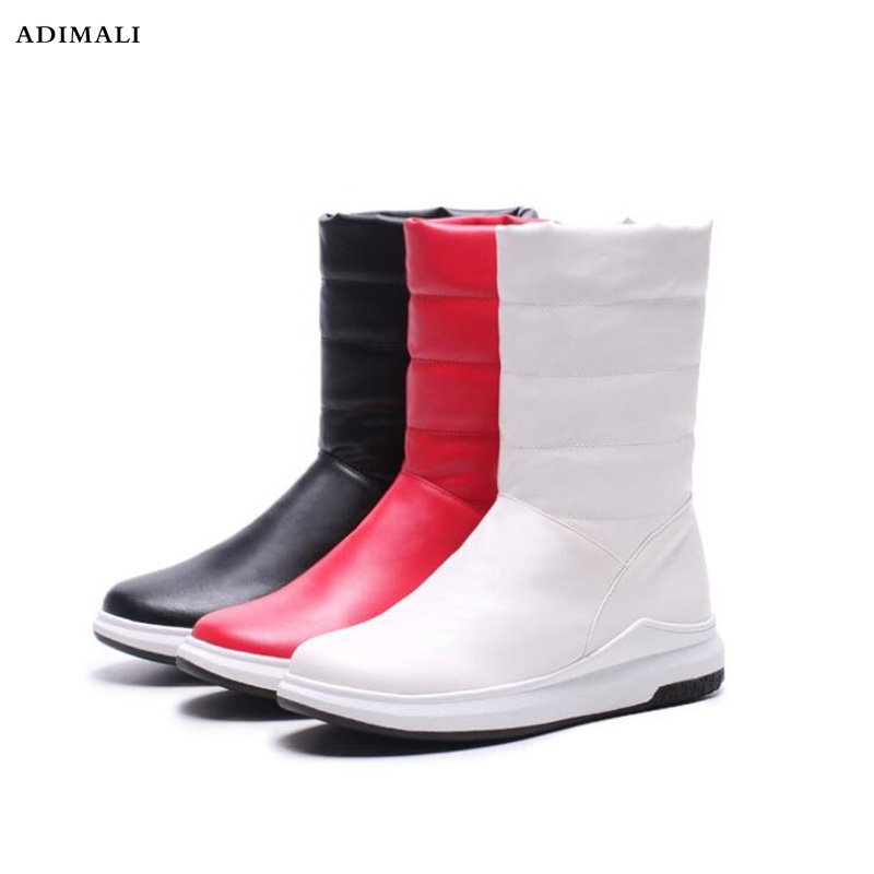 rubber plush fashion women boots Keep warm comfortable winter snow boots Down Waterproof ladies mid calf boots ekoak new 2017 winter boots fashion women boots warm plush mid calf boots ladies platform shoes woman rubber leather snow boots