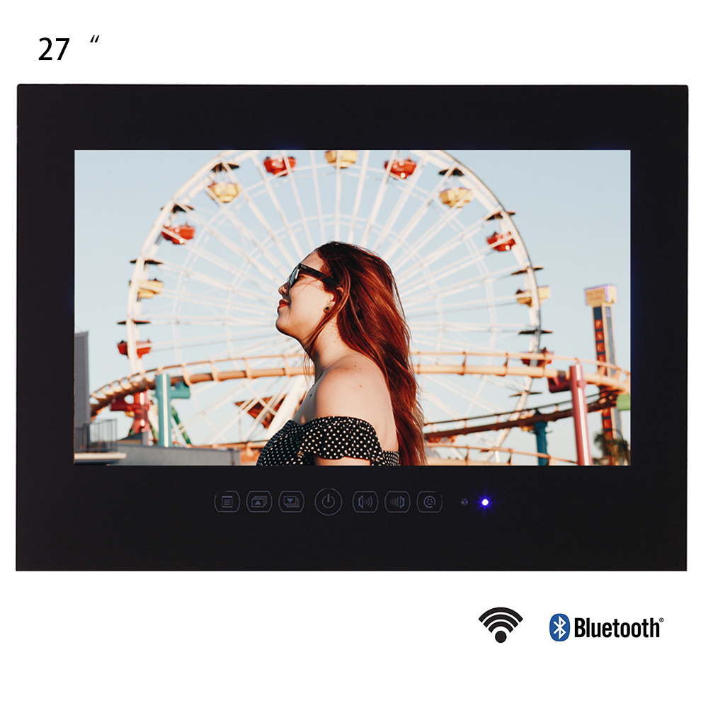 Souria 27 Inches Black Bathroom Waterproof LED TV Full HD 1080P Android Smart Television