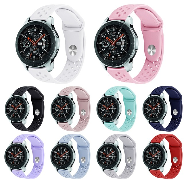 22mm רצועת לסמסונג גלקסי שעון צמיד עבור Huawei שעון סיליקון ספורט להקת שעון החלפת רצועת 91001