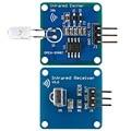 Infrared Transceiver Infrared Transmitter IR Emitter Module with 38K Carrier + IR Receiver module Infrared Receiver for Arduino