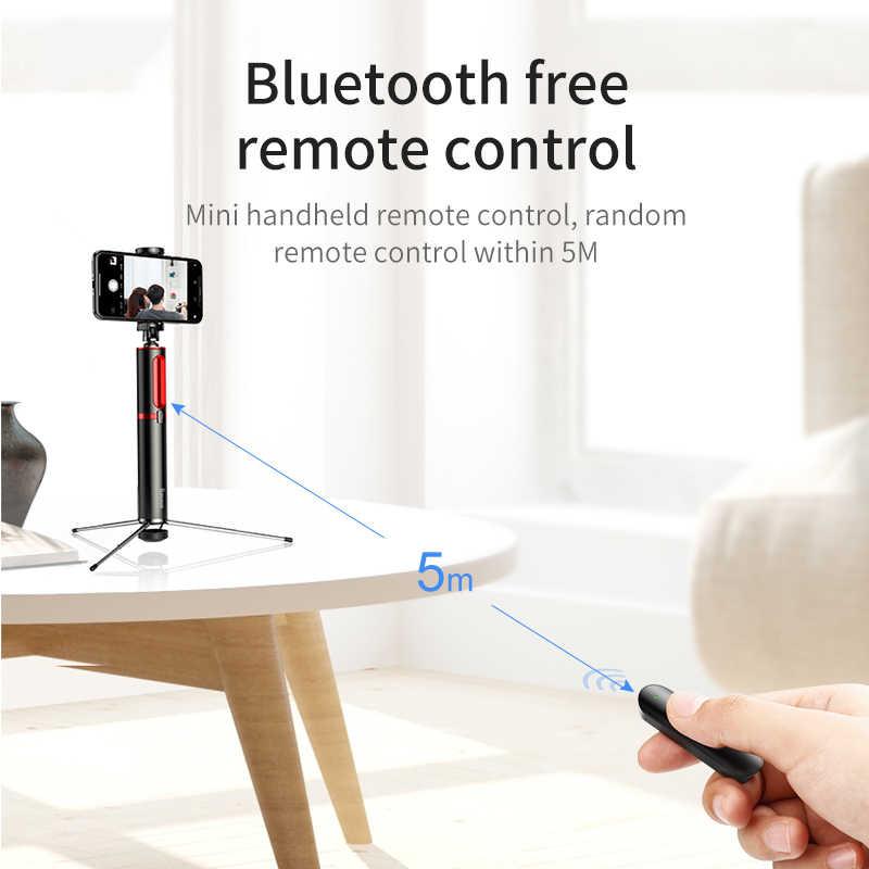 BASEUS Bluetooth Selfie Stick Portable Handheld Smart Ponsel Kamera Tripod dengan Wireless Remote untuk Iphone Samsung Huawei Android