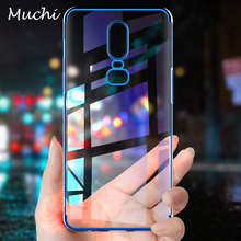 MUCHI For OnePlus 6 Case Luxury Laser Plating Soft Clear Back Cover For One Plus 6 OnePlus 6 Phone Cases