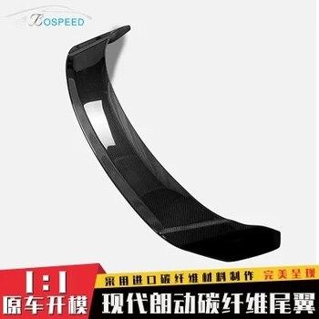 Fit untuk Hyundai ELANTRA dimodifikasi serat karbon sayap belakang dengan rear spoiler wing
