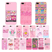 Cartoon pink leopard Phone Case For coque iPhone 7 8 6 6s puls X XS MAX XR 5 5s se Pink Panther Cute soft silicone phone cover cute silicone stand audio amplifier for iphone 5 pink