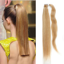 100% Virgin Human Hair Clip In Ponytail Straight Human Hair Ponytail  #1/#2/#4/#6/613 Human Hair Horstail
