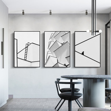 100% Hand Painted Abstract Morden Line Art Painting On Canvas Wall Adornment Pictures For Live Room Home Decor