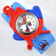 Spider Man Cartoon child watch girl boy student Wristwatches