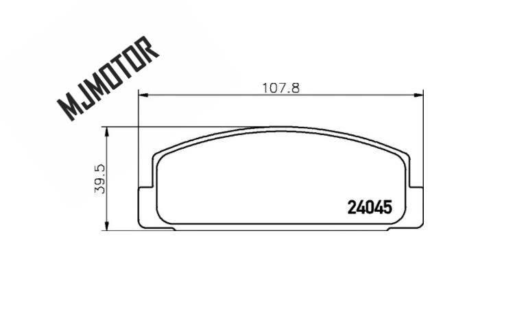 1 paire/kit plaquettes de frein arrière set auto voiture PAD KIT-RR freins à disque pour chinois MAZDA 6 FAW Pentium Automobile moteur partie GJYA-26-43Z - 3