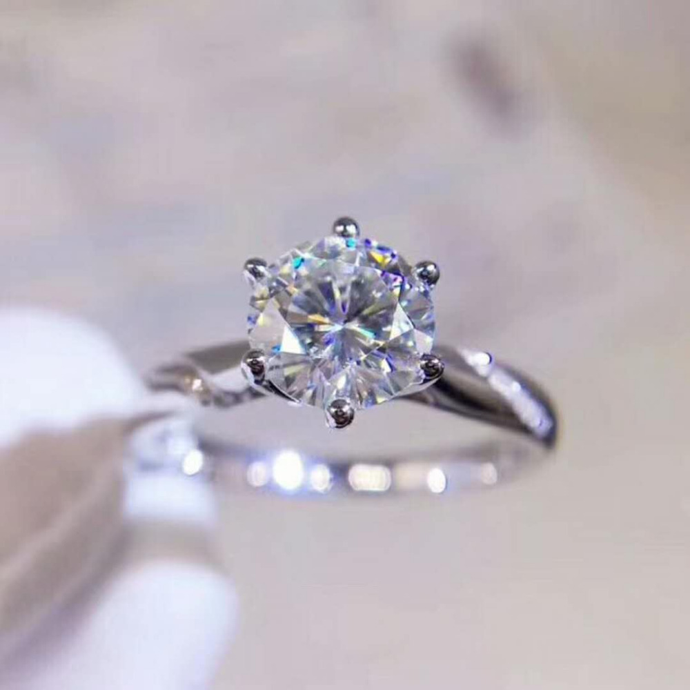 Cooperative Lovely 1ct Round Cut Synthetic Diamonds Solitaire Ring S925 Sterling Silver Rings Yellow Gold Color Engagement Jewelry Engagement Rings Wedding & Engagement Jewelry