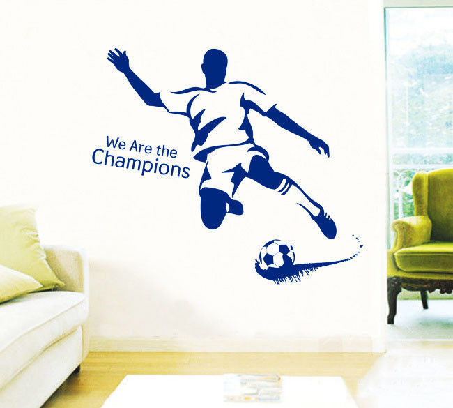 We Rre Champions Playing Sccoer Football For Living Room Sofa Waterproof Pvc DIY Mural Decal For Sports Sticker Free Shipping