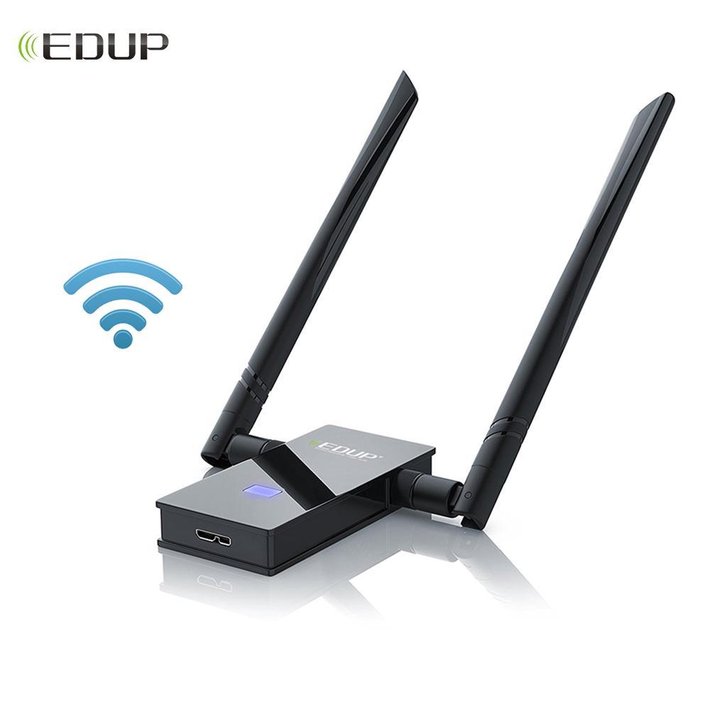 все цены на EDUP 5Ghz USB WiFi Adapter 1200Mbps High gain 2*6dBi Wi-Fi Antenna USB 3.0 802.11ac network card Support Windows Mac for PC онлайн