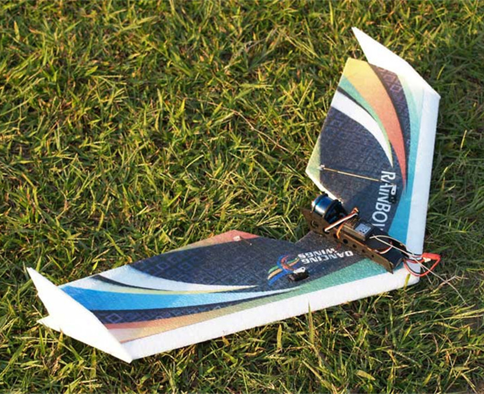 Free shipping RC Plane EPP Airplane Model DW HOBBY Rainbow Fly Wing 800mm Wingspan EDF Version RC Airplane Kit hl 803 material epp fx 803 rc plane rc glider airplane model airplane radio uav hobby trasporto libero free shipping