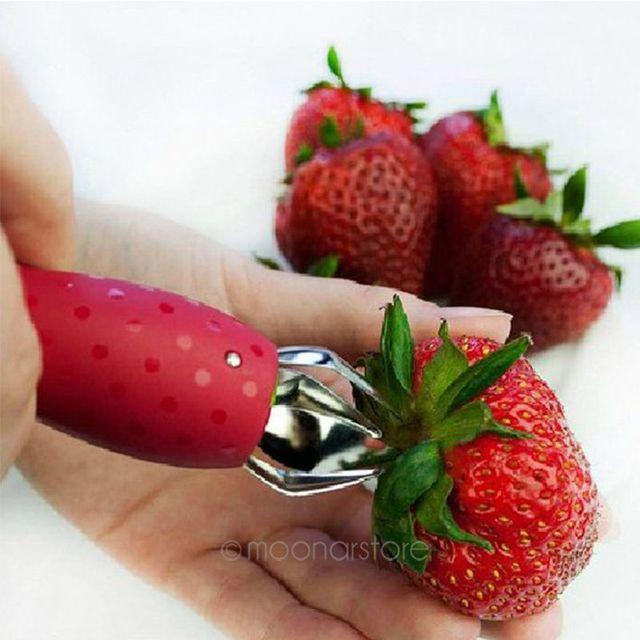 Fashion Lustige Kuchenhelfer Erdbeere Huller Erdbeere Stem Blatter